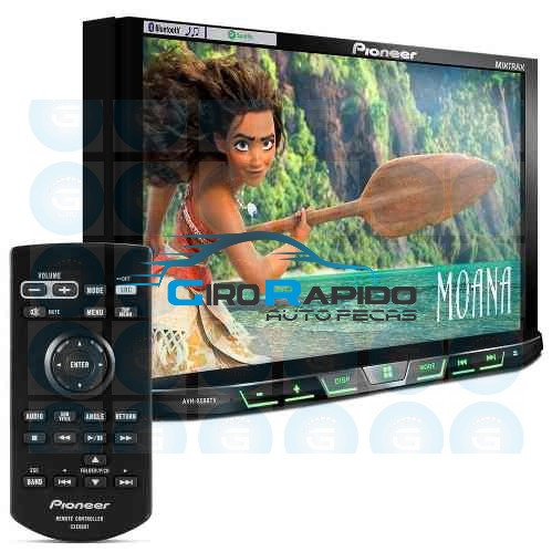 pioneer dvd auto 2 din  avh-x4180 tv digital bluetooth mp3