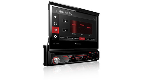 pioneer dvd retrátil automotivo avh-3880dvd usb rádio mp3