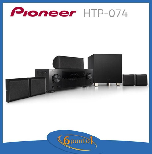 pioneer htp-074 - home theater 5.1 - recoleta