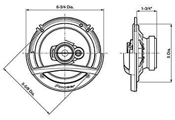 pioneer ts-a4676r altavoz de 4 x 6 pulgadas, 3 vías, juego d
