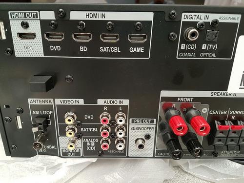 pioneer vsx-530-k 5.1 3d bluetooth 4k y bocinas yamaha sub