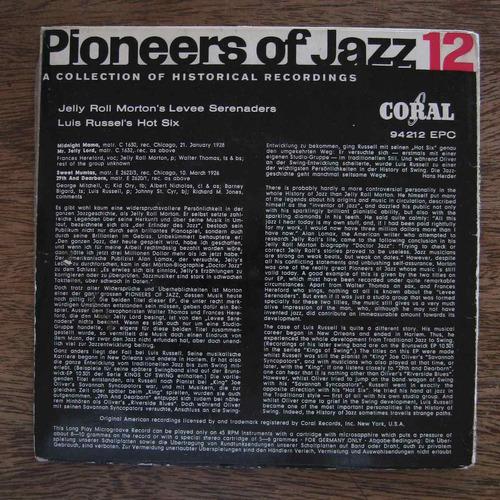 pioneers of jazz 12 - vinilo ep nacional