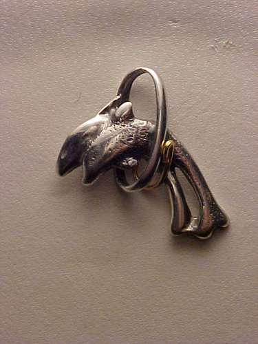 @@pip16038i - pingente dois golfinhos em prata