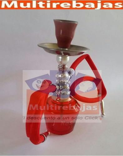 pipa arabe doble manguera para varios sabores