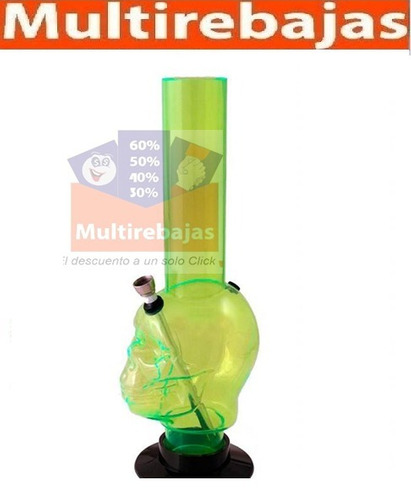 pipa bong acrilica en forma de calavera