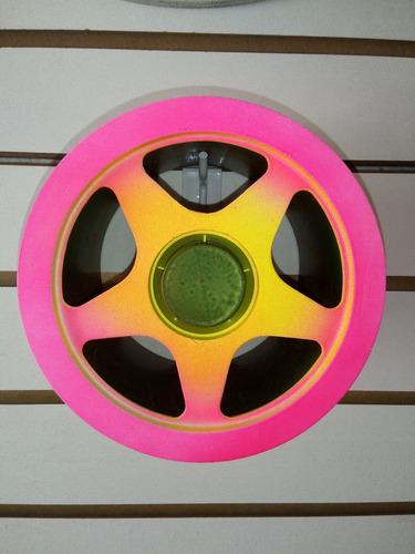 pipa-carretilha mini 15 cm pintada neon