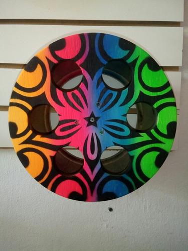 pipa-carretilha para pipa em madeira pintada 8 polegadas