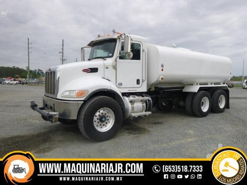pipa de agua 2015 peterbilt 4000 gal, camión, peterbilt