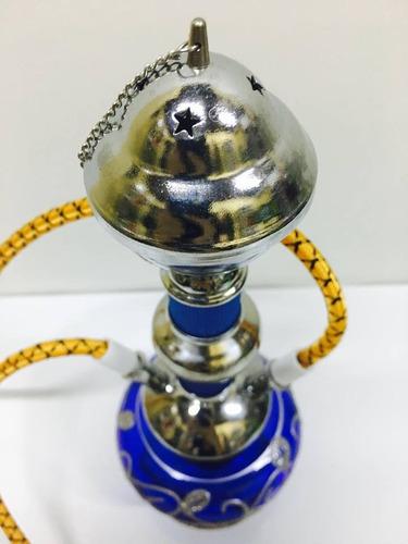 pipa de agua / narguil / doble manguera / 24 cm / colores /