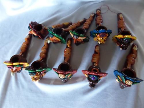 pipa de barro decorada