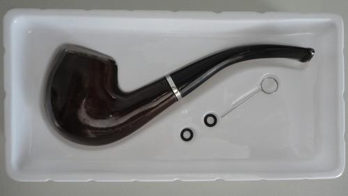pipa de madera para fumar tabaco sherlok holmes grande