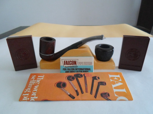 pipa falcon made in england -  doble cazoleta