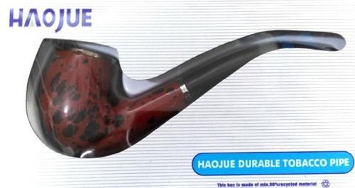 pipa simil madera haojue 14cm curva cigarro tabaco profesion