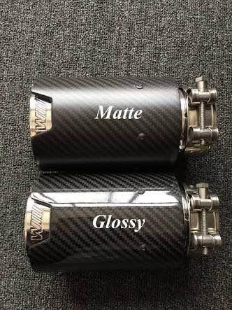 pipa tubo de escape akrapovic bmw  m  mate y glossy