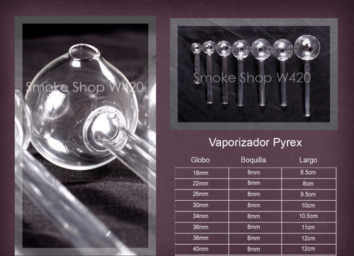 pipas de cristal   100 de 30mm x 550