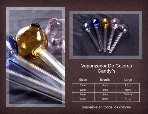pipas de cristal 50 piezas candy's colores