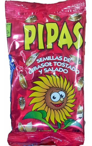 pipas x30un semillas girasol  hoy superoferta la golosineria