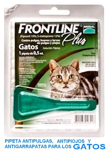 pipeta anti pulga garrapata frontline gato menos de 3 kg