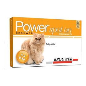 Pipeta Power Spot On Para Gatos 4-8kl/ Antipulgas
