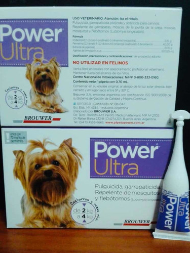 pipeta power ultra. perros de 2-4 kilos