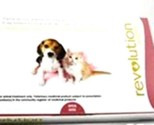 pipeta revolution perro y gato 2,5 kg anti pulga tiña sarna