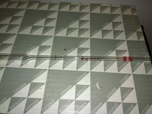 pipeta  volumetrica   de  4 mililitros marca  kimax