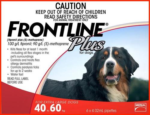 pipetas frontline plus para perros 40 a 60 kilos