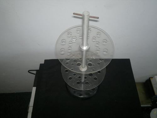 pipetero   en    acrilico   con   base   de  madera
