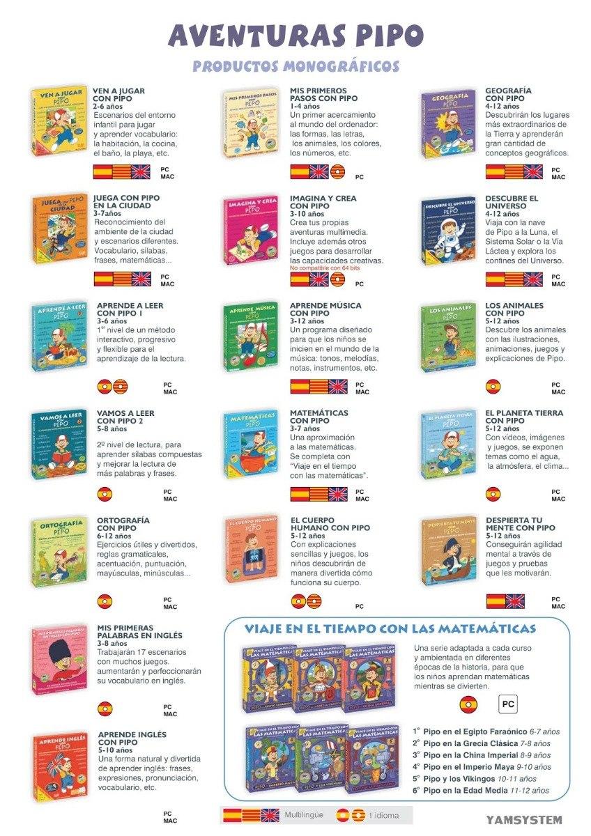 Pipo Mega Coleccion De Juegos Educativos Con Pipo 550 00 En
