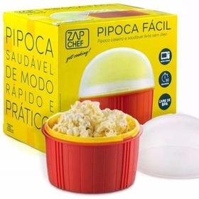 Pipoca Fácil Zap Chef Dtc -pipoqueira De Microondas Sem Óleo