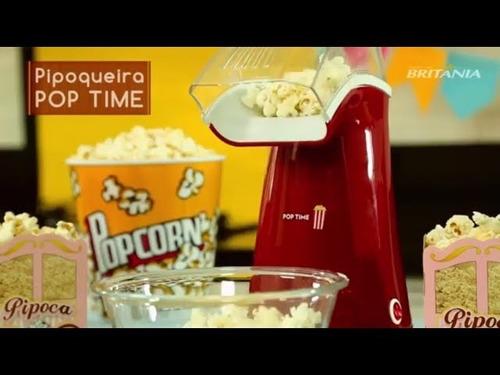 pipoqueira britania pop time pip b-02 vermelha 110v