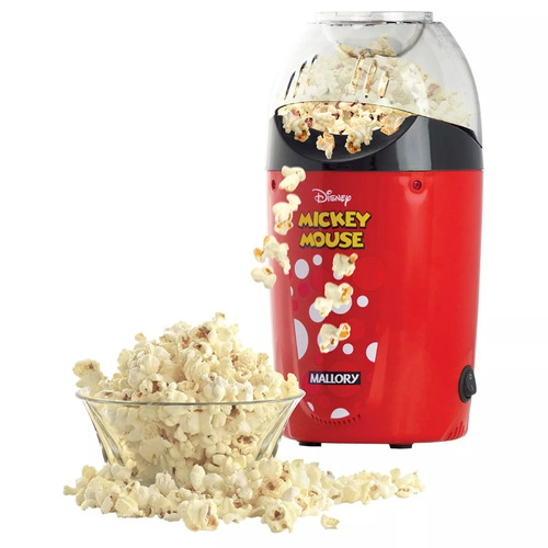 pipoqueira sem óleo 1200w mickey disney mallory 110v