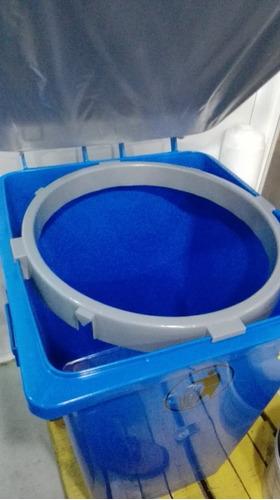pipote de basura con rueda manaplas 200 litros