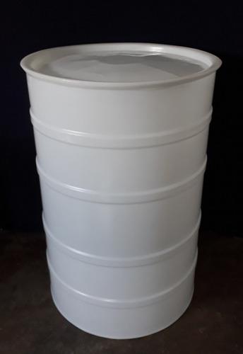 pipote (tambor) plástico 200 litros con tapa (nuevo)
