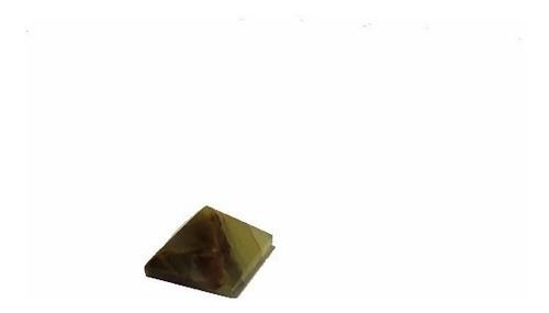 piramide de jade con ojo de tigre importado de india 3 cm