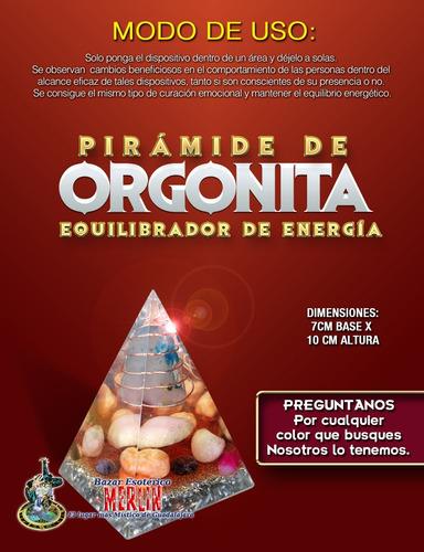 pirámide de orgonita - la mejor calidad - cualquier color