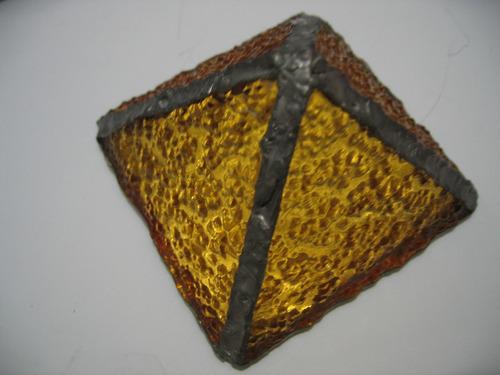 piramide energetica d 7cm d vitreaux tiffany base de espejo
