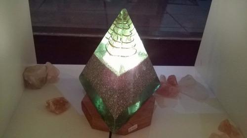 pirámide orgon lámpara energético