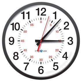 5633b48c5b7e Pirámide Timetrax Sync 13 -inch Rf Reloj De Pared Analógic