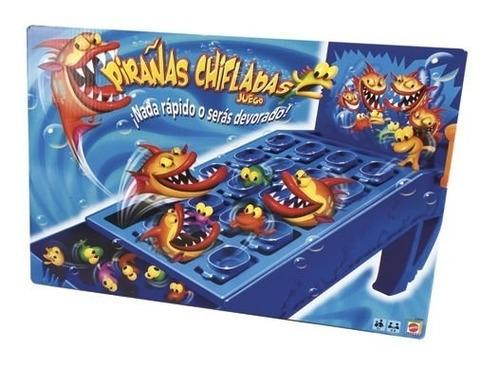 pirañas chifladas juego mesa familiar niños juguete mattel