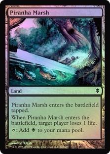 piranha marsh zendikar (foil)
