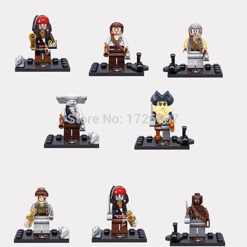 piratas del caribe, figuras