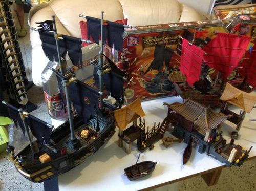 piratas del caribe megabloks 3 barcos lote