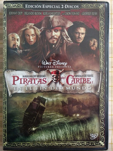 piratas del caribe. trilogía original dvd doble disco.