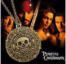 piratas do caribe medalha asteca