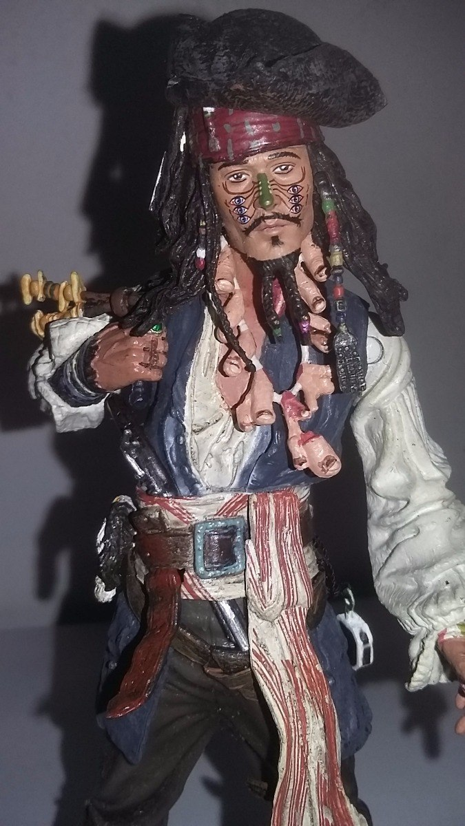 piratas do caribe serie 3 capitâo jack sparrow carnibal r 159