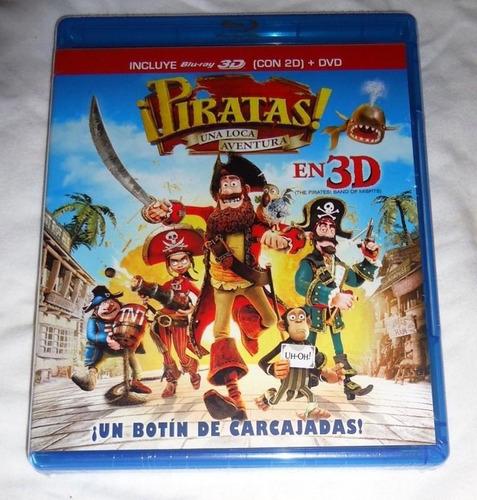 piratas una loca aventura blu-ray 3d + dvd