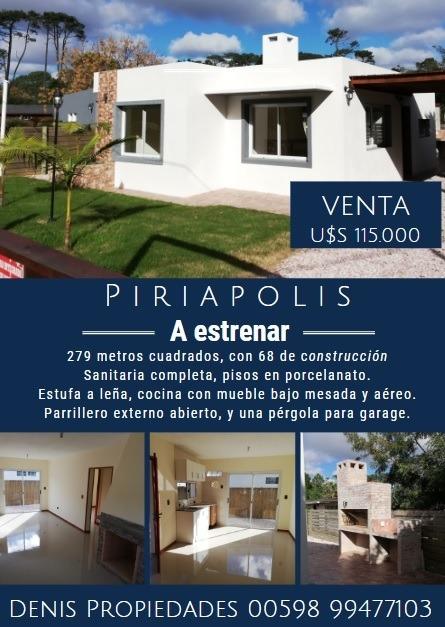 piriapolis - barrio country - a estrenar - 279m2