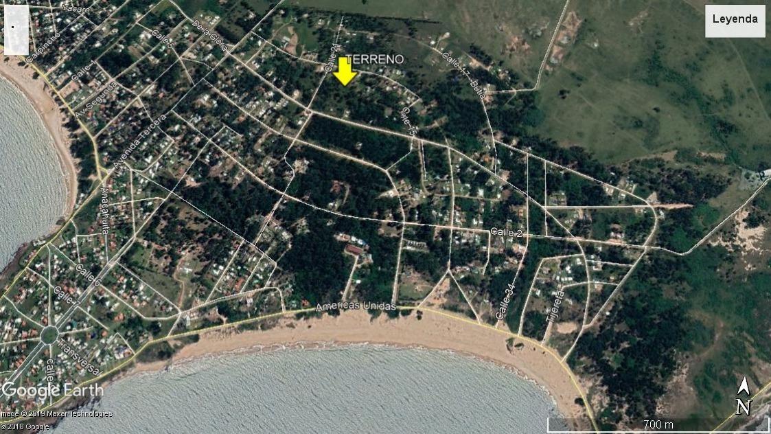 piriápolis, punta colorada. terreno en venta. 1000 m²