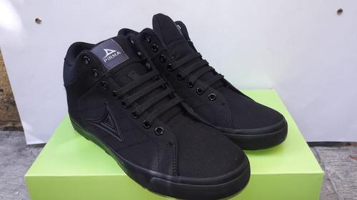 pirma, original, bota negra de lona, mod. 422